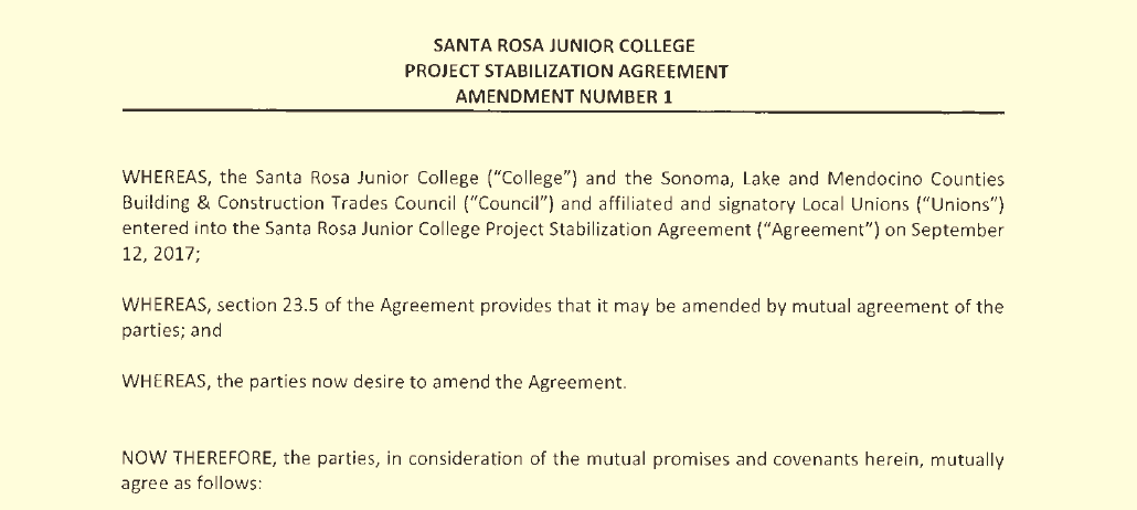 Coalition for Fair Employment in Construction to Perform the Evaluation that Santa Rosa Junior College Board of Trustees Won't Do